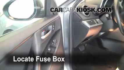 interior fuse box location 2010 2013 mazda 3 2010 mazda 3 i 2 0l rh carcarekiosk com 2010 mazda 3 fuse box diagram