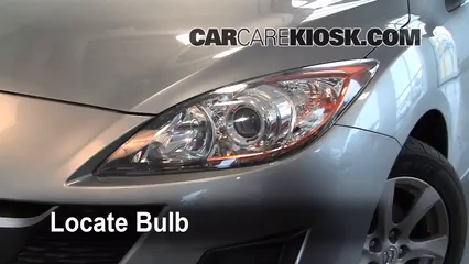 2010 Mazda 3 i 2.0L 4 Cyl. Lights Highbeam (replace bulb)