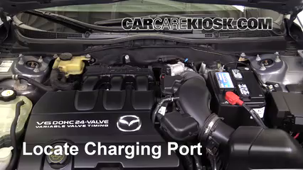2010 Mazda 6 S 3.7L V6 Air Conditioner Recharge Freon
