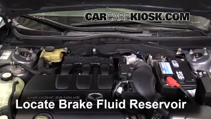 2010 Mazda 6 S 3.7L V6 Brake Fluid Check Fluid Level