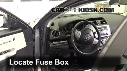 interior fuse box location 2009 2013 mazda 6 2010 mazda 6 s 3 7l v6 rh carcarekiosk com 2009 mazda 6 fuse box diagram