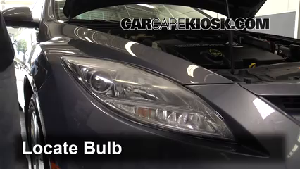 2010 Mazda 6 S 3.7L V6 Lights Turn Signal - Front (replace bulb)