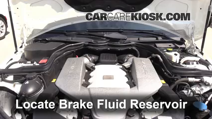 2010 Mercedes-Benz C63 AMG 6.3L V8 Brake Fluid Add Fluid
