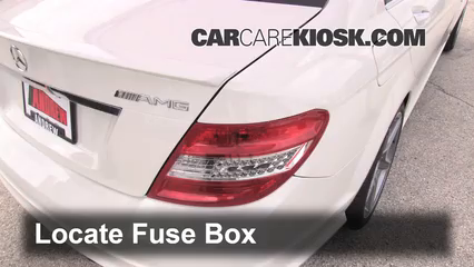 Fuse Interior Part 1 interior fuse box location 2008 2015 mercedes benz c63 amg 2010 2009 S63 AMG White at nearapp.co