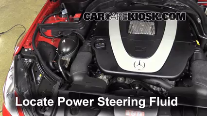 2010 Mercedes-Benz E350 3.5L V6 Coupe (2 Door) Power Steering Fluid Check Fluid Level