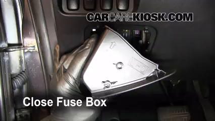 interior fuse box location: 2007-2013 mitsubishi outlander - 2010 mitsubishi  outlander es 2 4l 4 cyl