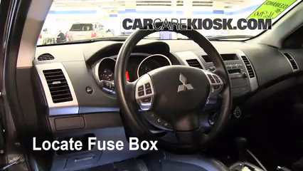 interior fuse box location 2007 2013 mitsubishi outlander 2010 rh carcarekiosk com
