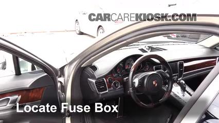 interior fuse box location 2010 2016 porsche panamera 2010 rh carcarekiosk com Porsche 996 Fuse Box Diagram Chevy Fuse Box Diagram