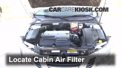 Cabin Filter Replacement Saab 9 3 2008 2011