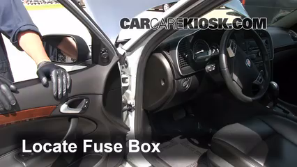 interior fuse box location 2008 2011 saab 9 3 2010 saab 9 3 2 0t rh carcarekiosk com 2004 saab 9 3 turbo fuse box diagram