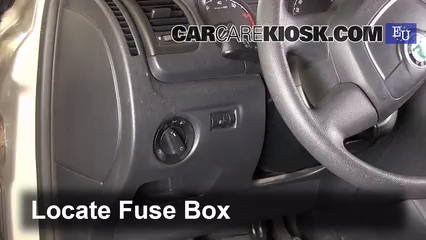 interior fuse box location: 2007-2014 skoda fabia
