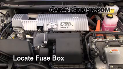 2010 Toyota Prius 1.8L 4 Cyl.%2FFuse Engine Part 1 remove fuse box cover toyota prius mitsubishi montero sport fuse toyota venza fuse box diagram at readyjetset.co
