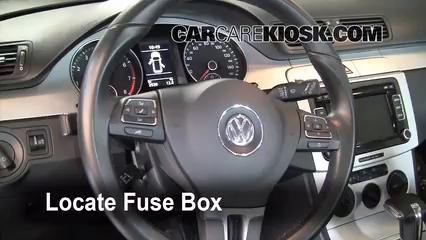 interior fuse box location: 2006-2010 volkswagen passat - 2010 volkswagen  passat komfort 2 0l 4 cyl  turbo wagon