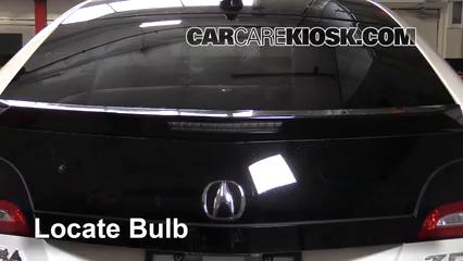 2010 Acura ZDX 3.7L V6 Éclairage Feu de freinage central (remplacer l'ampoule)