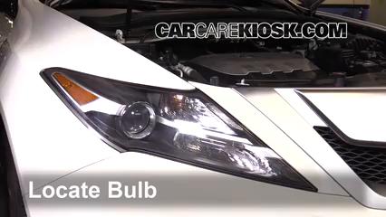2010 Acura ZDX 3.7L V6 Éclairage Feux de croisement (remplacer l'ampoule)