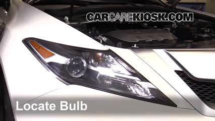 2010 Acura ZDX 3.7L V6 Éclairage Feu clignotant avant (remplacer l'ampoule)