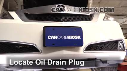 2010 Acura ZDX 3.7L V6 Huile Changer l'huile et le filtre à huile