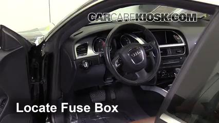 Interior Fuse Box Location: 2008-2017 Audi A5 Quattro - 2010 Audi A5  Quattro 2.0L 4 Cyl. Turbo | Audi Coupe Fuse Box |  | CarCareKiosk