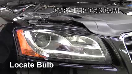 2010 Audi A5 Quattro 2.0L 4 Cyl. Turbo Éclairage Feux de route (remplacer l'ampoule)