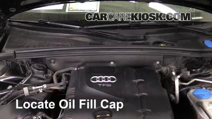 2010 Audi A5 Quattro 2.0L 4 Cyl. Turbo Huile Ajouter de l'huile