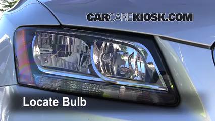 2010 Audi Q5 Premium 3.2L V6 Luces Luz de carretera (reemplazar foco)