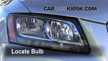 2010 Audi Q5 Premium 3.2L V6 Luces Faro delantero (reemplazar foco)