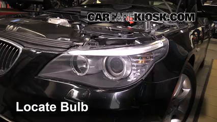 2010 BMW 528i 3.0L 6 Cyl. Luces Faro delantero (reemplazar foco)