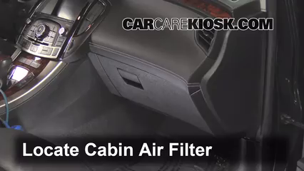 2010 Buick LaCrosse CXL 3.0L V6 Filtre à air (intérieur)