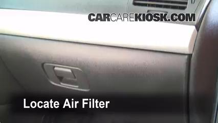 2010 Chevrolet Cobalt LT 2.2L 4 Cyl. Sedan (4 Door) Filtro de aire (interior)