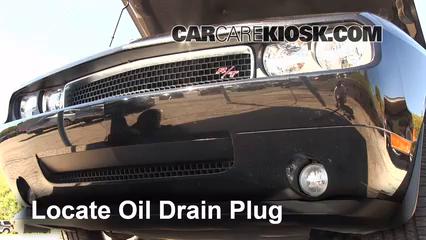 2010 Dodge Challenger RT 5.7L V8 Aceite Cambiar aceite y filtro de aceite