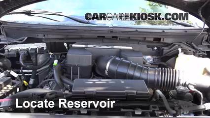 2010 Ford F-150 SVT Raptor 6.2L V8 Líquido limpiaparabrisas