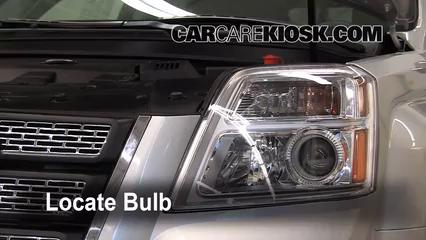 2010 GMC Terrain SLT 3.0L V6 Lights Highbeam (replace bulb)