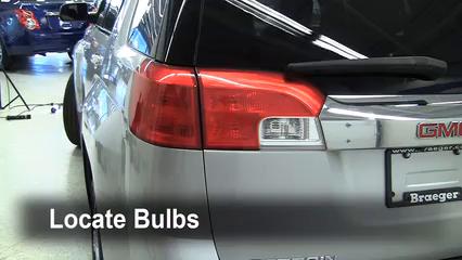 2010 GMC Terrain SLT 3.0L V6 Lights Tail Light (replace bulb)