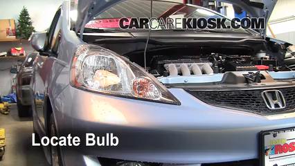 2010 Honda Fit Sport 1.5L 4 Cyl. Lights Headlight (replace bulb)