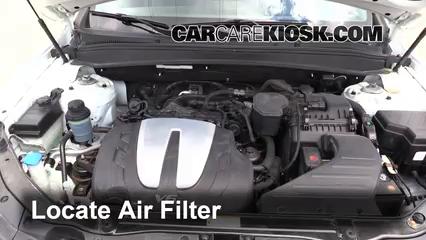 2010 Hyundai Santa Fe SE 3.5L V6 Filtre à air (moteur)
