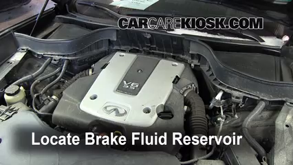 2010 Infiniti FX35 3.5L V6 Brake Fluid