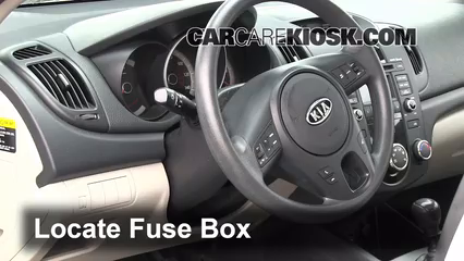 interior fuse box location: 2010-2013 kia forte - 2010 kia forte ex 2.0l 4  cyl. sedan (4 door)  carcarekiosk