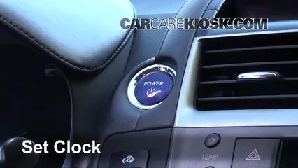 2010 Lexus HS250h Premium 2.4L 4 Cyl. Clock