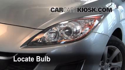 2010 Mazda 3 i 2.0L 4 Cyl. Luces Luz de giro delantera (reemplazar foco)