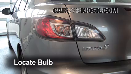 2010 Mazda 3 i 2.0L 4 Cyl. Luces Luz de giro trasera (reemplazar foco)
