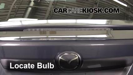 2010 Mazda 6 S 3.7L V6 Luces Luz de freno central (reemplazar foco)