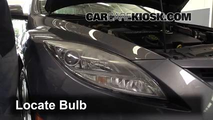 2010 Mazda 6 S 3.7L V6 Lights Highbeam (replace bulb)