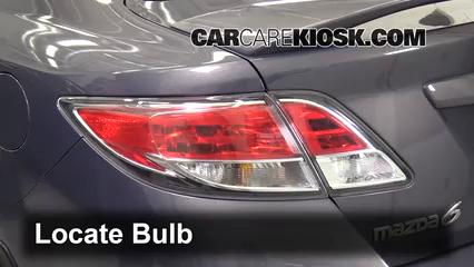 2010 Mazda 6 S 3.7L V6 Luces Luz de giro trasera (reemplazar foco)