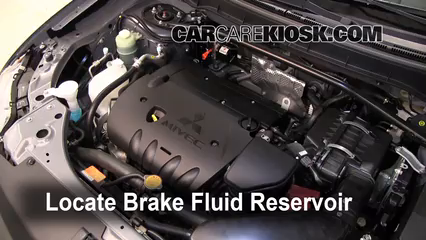 2010 Mitsubishi Outlander ES 2.4L 4 Cyl. Brake Fluid Check Fluid Level