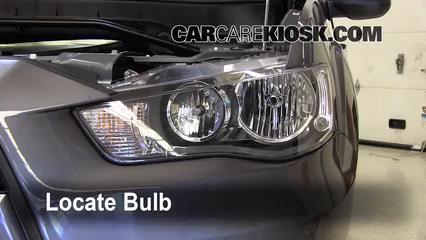 2010 Mitsubishi Outlander ES 2.4L 4 Cyl. Lights Headlight (replace bulb)