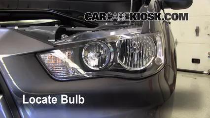 2010 Mitsubishi Outlander ES 2.4L 4 Cyl. Luces Luz de estacionamiento (reemplazar foco)