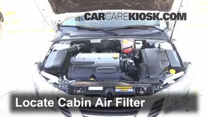 2010 Saab 9-3 2.0T 2.0L 4 Cyl. Turbo Sedan Air Filter (Cabin)