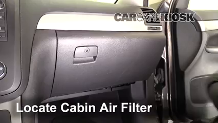 2010 Saturn Outlook XE 3.6L V6 Filtro de aire (interior) Cambio