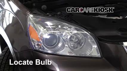 2010 Saturn Outlook XE 3.6L V6 Luces Luz de carretera (reemplazar foco)