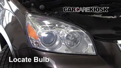 2010 Saturn Outlook XE 3.6L V6 Luces Luz de estacionamiento (reemplazar foco)